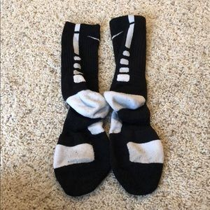 Black and white nike elite socks